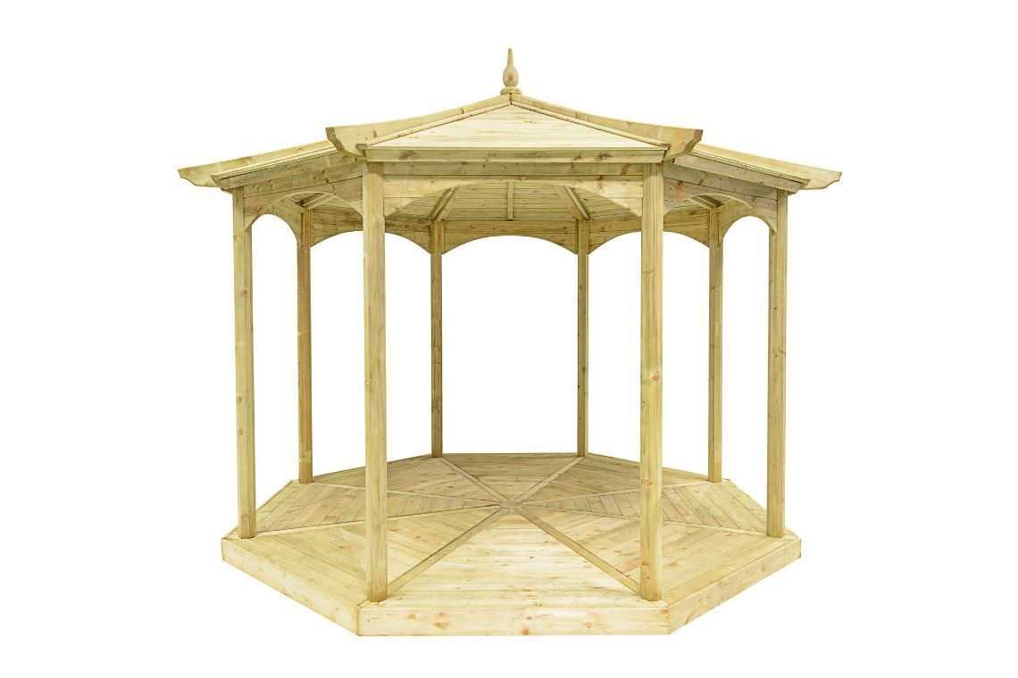 The Regis Wooden Garden Gazebo - Frame Only