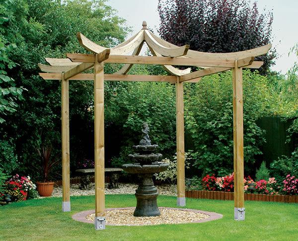 Wooden pergolas garden pergola kits for sale gazebo direct for Japanese style gazebo plans
