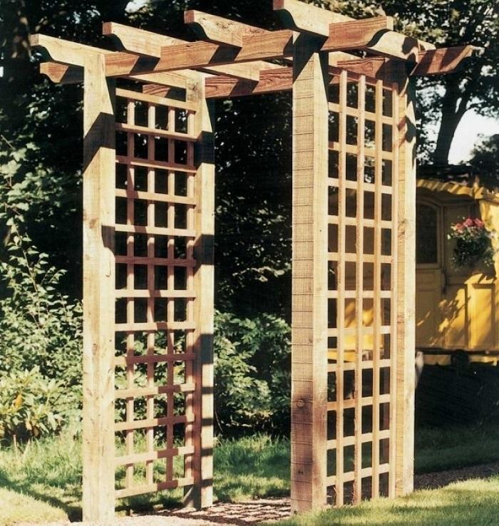 Portico Wooden Pergola   Garden Arch ... - Grange Portico Pergola Cheap Pergola Kits For Sale Online