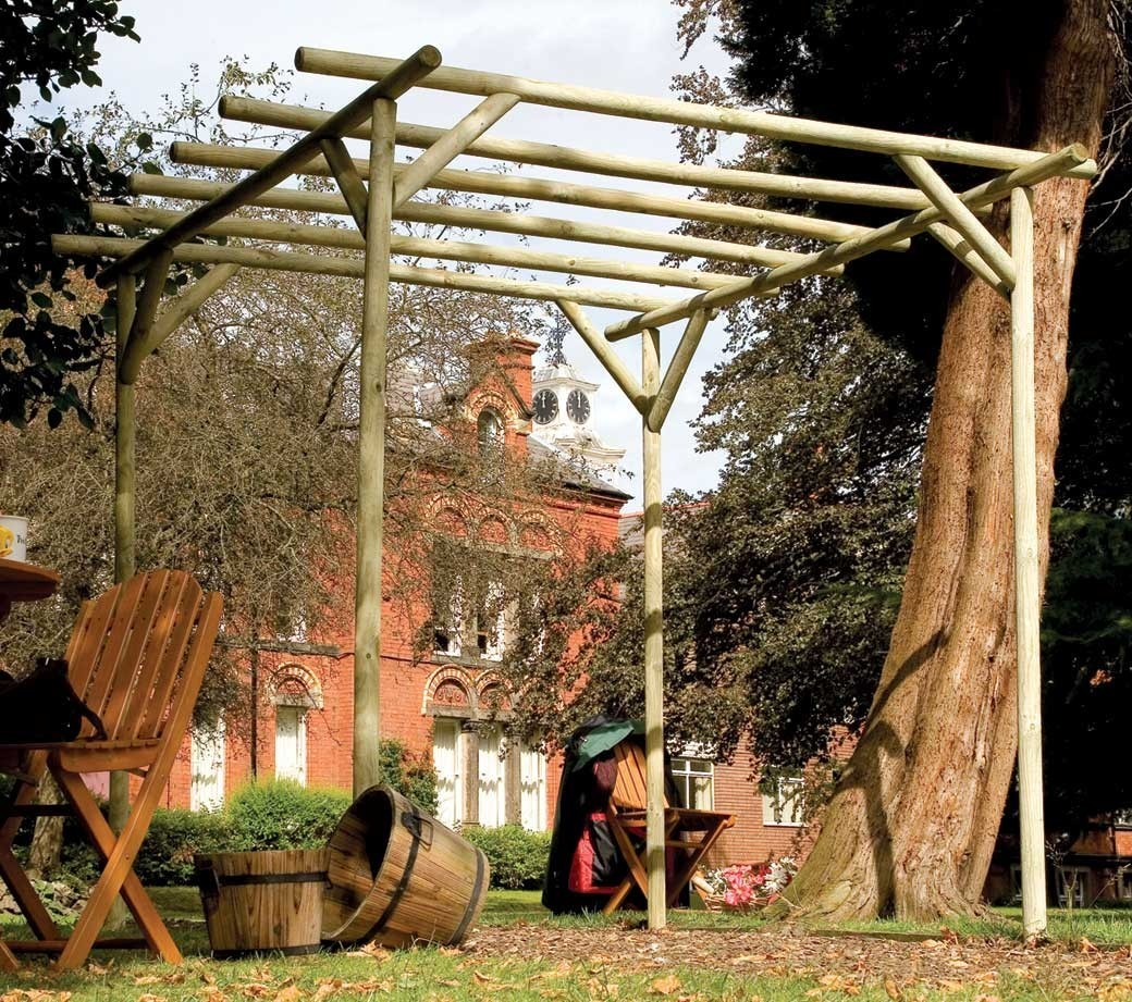 Wooden pergolas garden pergola kits for sale gazebo direct for Rustic gazebo kits