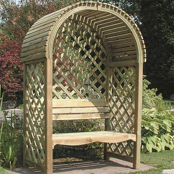 Victoria Wooden Arbour Gazebo Direct