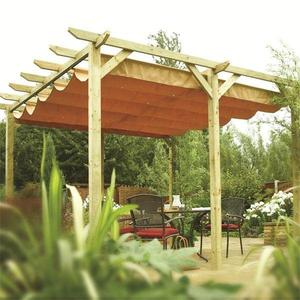 Verona Wooden Pergola | Garden Sun Canopy - Verona Wooden Pergola Garden Sun Canopy Gazebo Direct