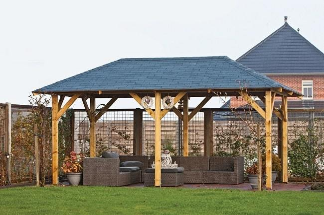 Superior Wooden Garden Gazebo Buy 5 9m X 3 4m Garden