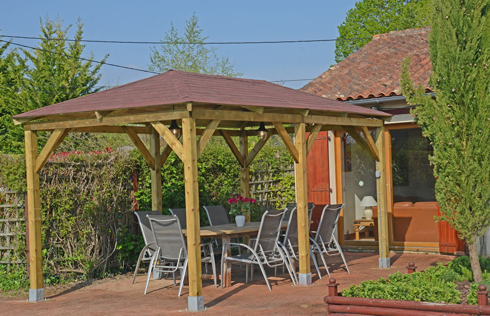 Grande Wooden Garden Gazebo | Cheap Prices Online | Gazebo Direct