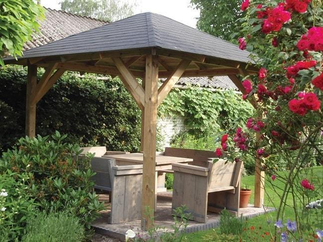 Tourist Wooden Garden Gazebo