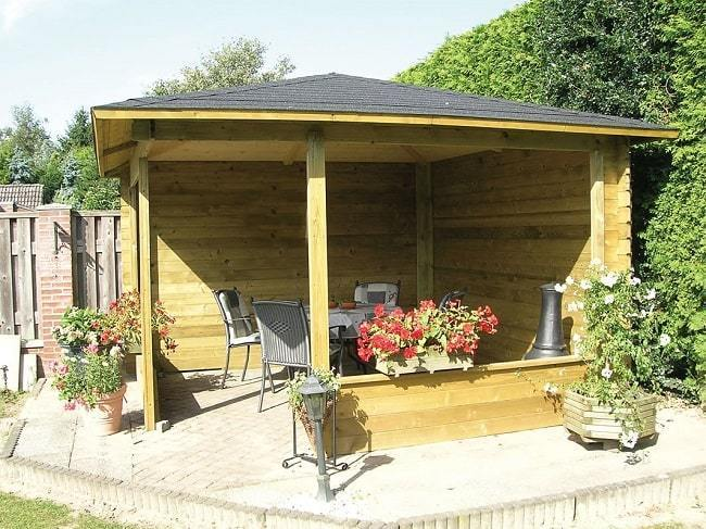 Waldemar Wooden Gazebo Timber Garden Structure Gazebo Direct