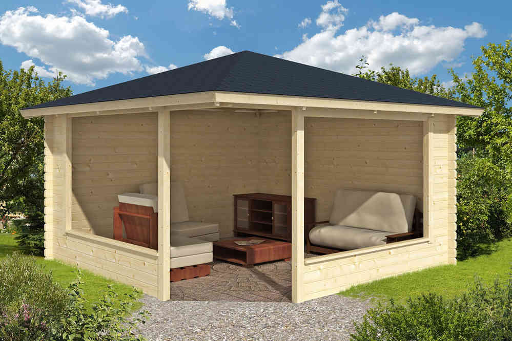 Marit Wooden Gazebo Timber Garden Shelter Gazebo Direct