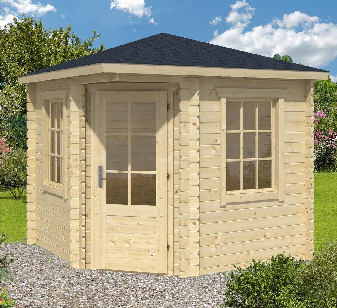 daniel corner garden log cabin kit ideal home office. Black Bedroom Furniture Sets. Home Design Ideas
