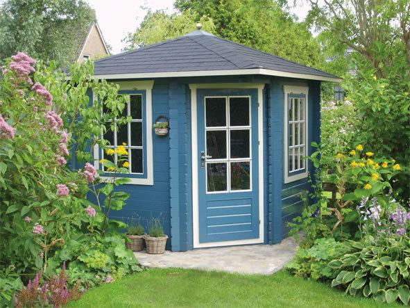 Daniel Corner Garden Log Cabin Kit Ideal Home Office
