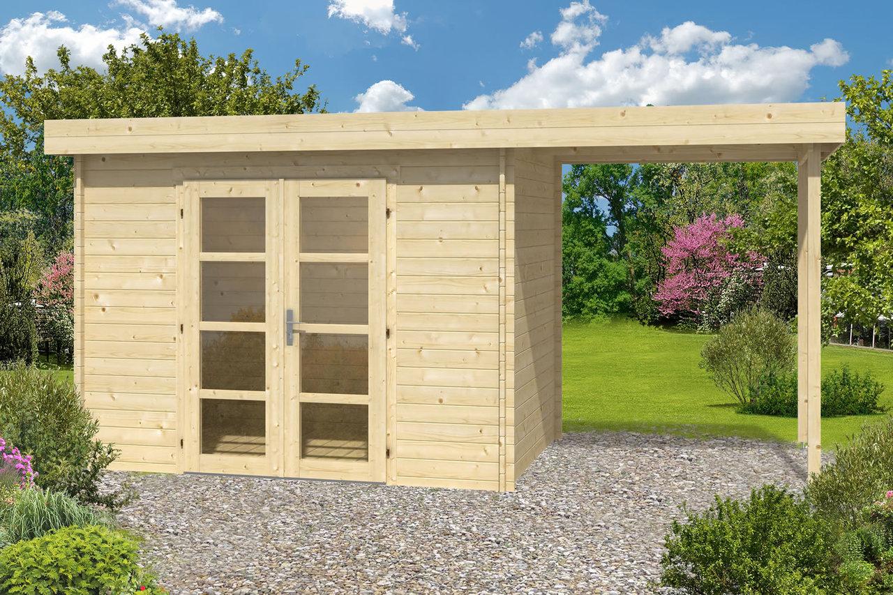 Medium modern summerhouse log cabin gazebo direct for Medium modern house