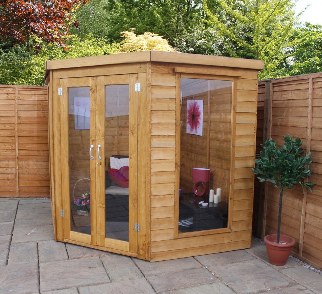 Summerhouses buy a cheap summerhouse or log cabin kit for Cheap large garden sheds