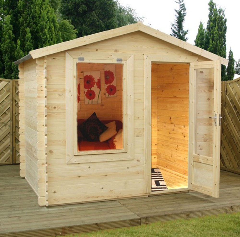 19mm Studio Log Cabin | 2.5m x 2m
