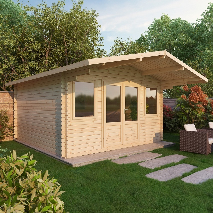 Mercia 4 X 4m Haven Log Cabin Buy Online Gazebo Direct