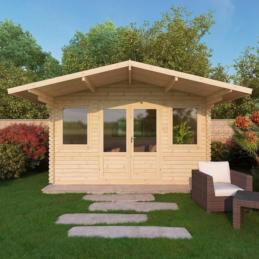 Mercia 4 x 4m haven log cabin buy online gazebo direct for Buy log house