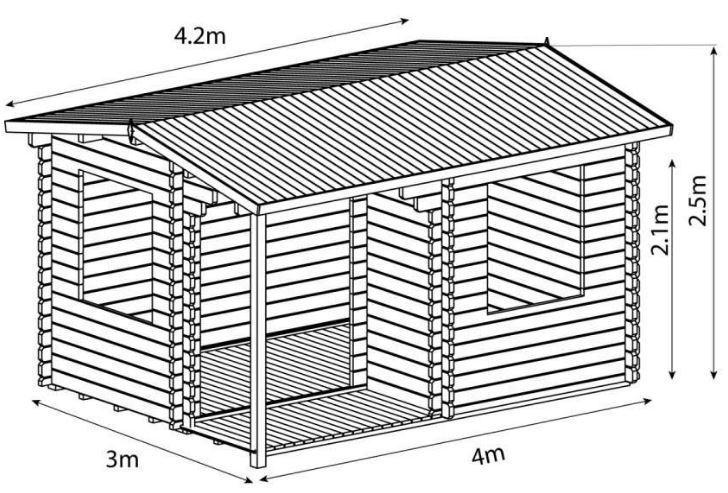 4m x 3m home office executive log cabin kit buy online at gazebo direct. Black Bedroom Furniture Sets. Home Design Ideas