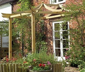 dragon patio pergola over french doors