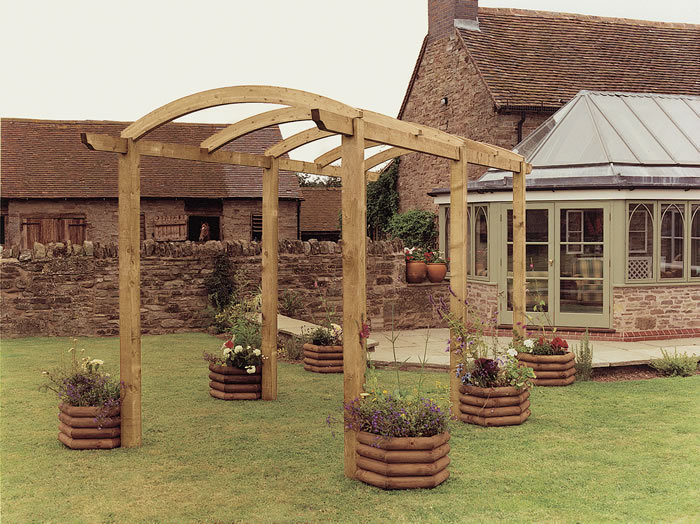 Colonnade Wooden Pergola | Garden Walkway