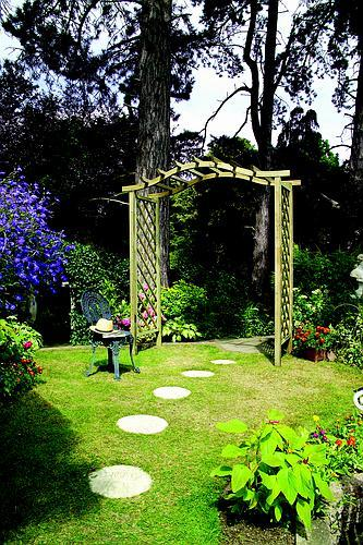The Elite Portico Wooden Garden Arch