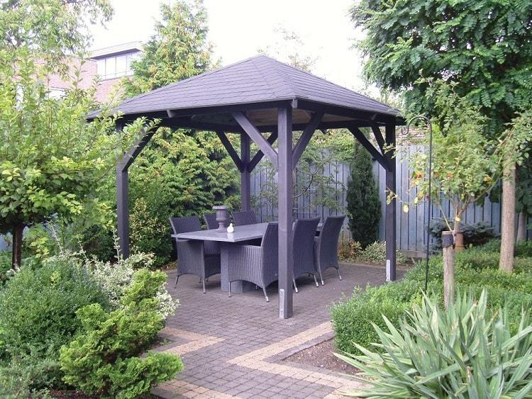 Economist Wooden Gazebo | 3.4m x 3.4m Fixed Garden Canopy ... on Outdoor Patio Pavilion id=84446