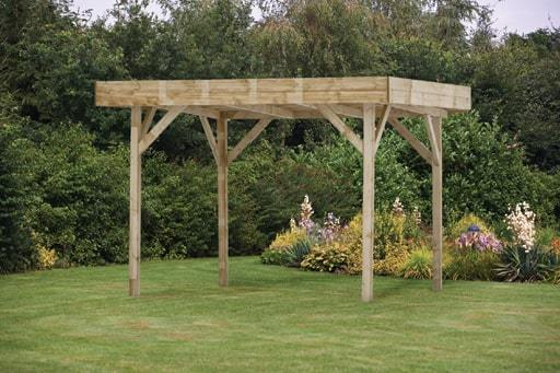 Do It Yourself Home Design: Medium Modern Wooden Garden Gazebo