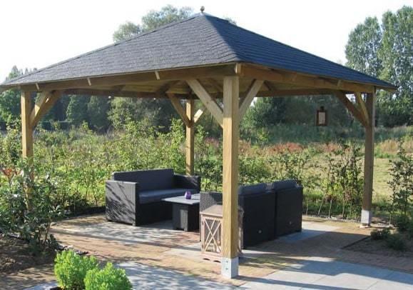 Classico Wooden Gazebo 4 3m X 4 3m Garden Canopy Kit