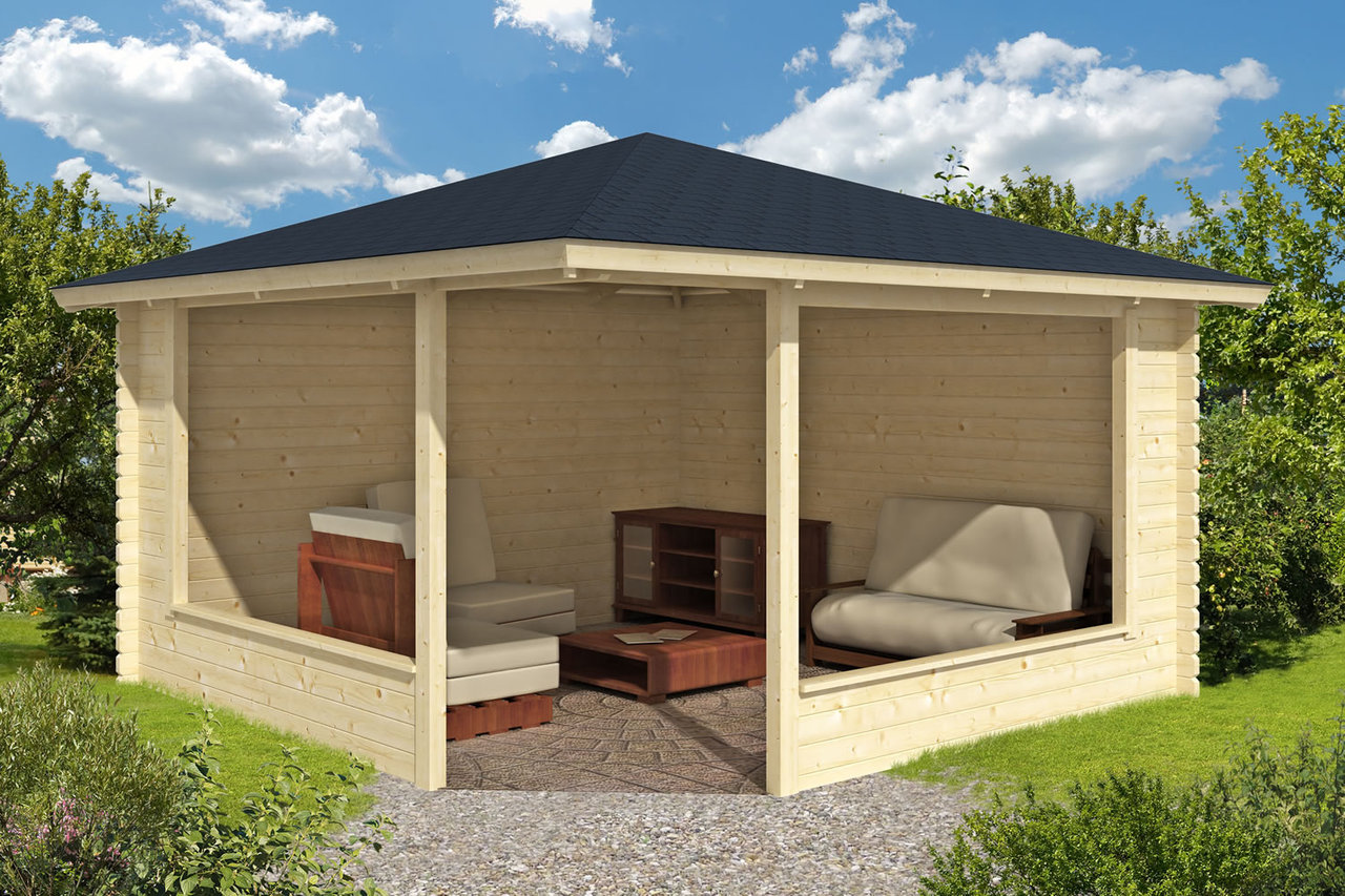 Marit Wooden Gazebo 4m X 4m Timber Garden Shelter