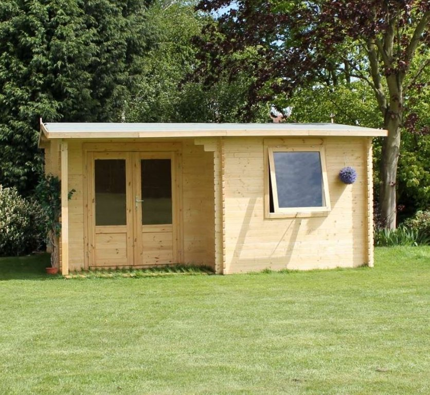 4m X 3m Home Office Executive Log Cabin Kit