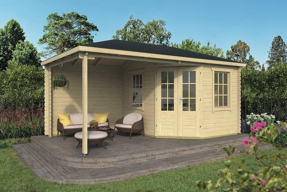 Kennet Log Cabin Gazebo | 5m x 3m