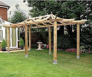 Large Dragon extended pergola design