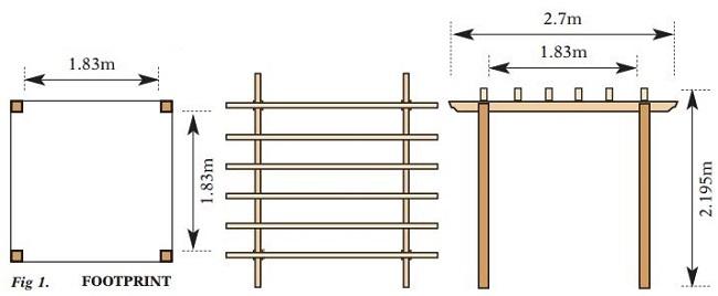 Traditional Pergola Buy Wooden Garden Pergola Kits Online