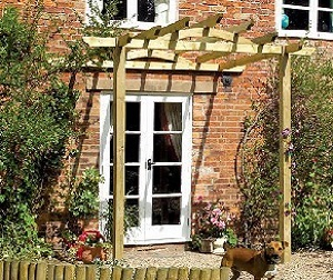 Traditional timber patio pergola kit