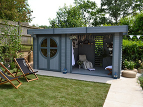 Connor Summerhouse / Log Cabin (Painted)