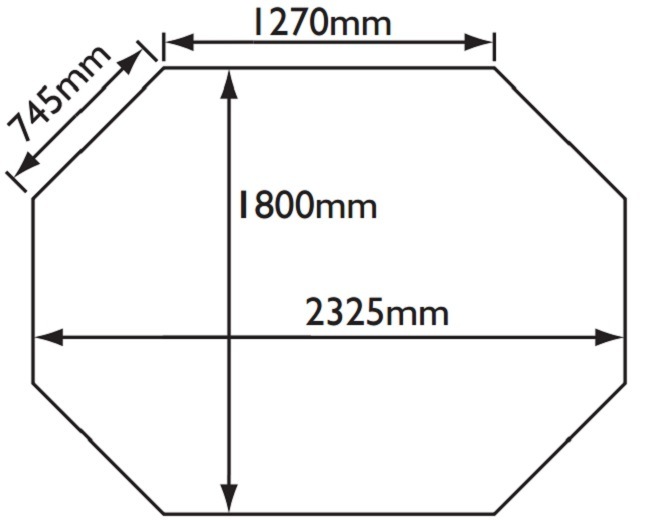 Ryton Octagonal Gazebo 8x6 Plan Drawing
