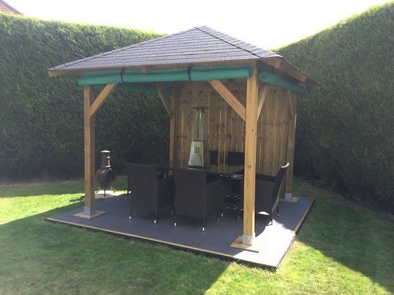 tourist wooden garden gazebo kit