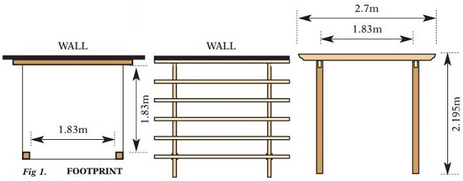Traditional Patio Pergola Kit - Plan Drawings